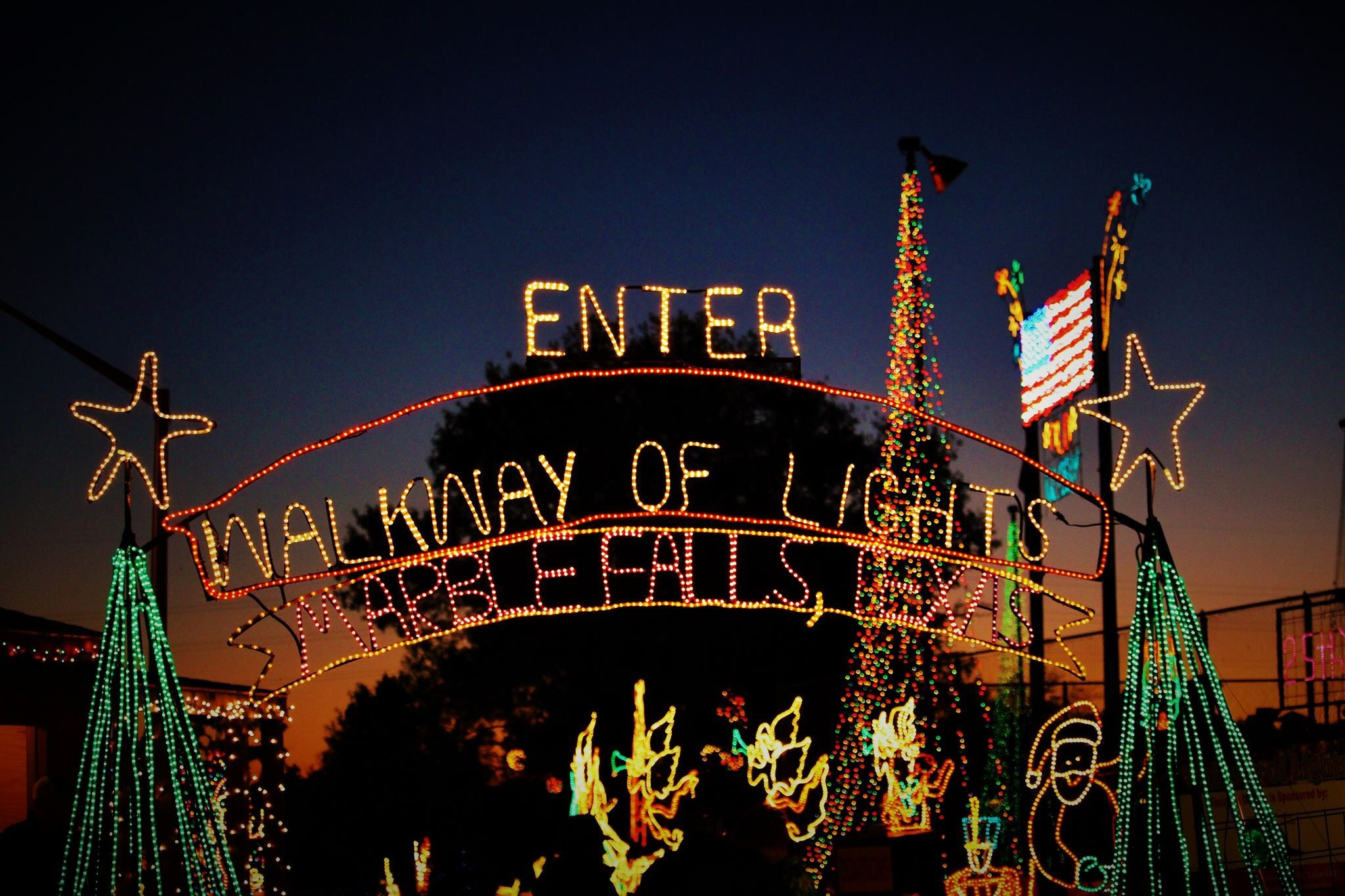 Walkway of Lights Marble Falls