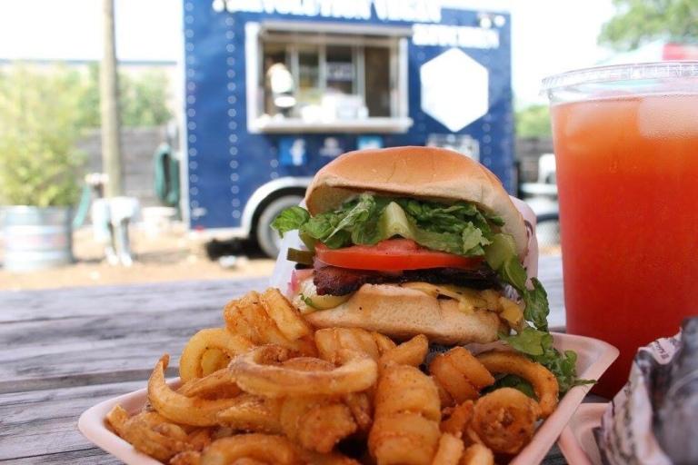 Texan Burger at Revolution Vegan Kitchen